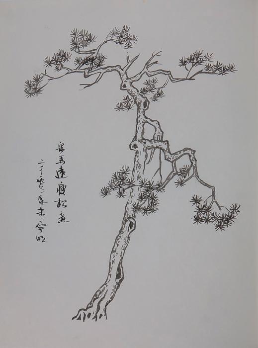 马克笔手绘树的画法 马克笔植物_钢笔手绘树的画法